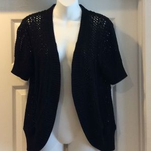 Black Knit Cardigan Sweater Sonoma Size Large